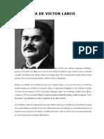 Biografia de Victor Larco Herrera