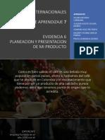 Planeacion y Presentacion de Producto