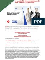 ¿Puede Declararse La Nulidad de Oficio Del Matrimonio de Una Mujer Ya Casada_ [Casación 709-2016,Lima] _ Legis.pe