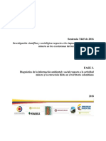 10. Diagnóstico de La Información Ambiental y Social Respecto a La Actividad Minera y La Extracción