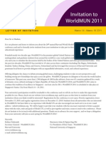 WorldMUN 2011 Invitation Letter