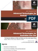 Dynamic Adhesion of Wet and Sitcky Iron Ores Onto Impact Plates