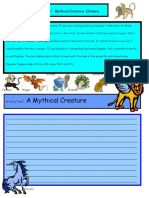 Creative Writing Mythical Creatures 15 a1 Level Writing Creative Writing Tasks 27519
