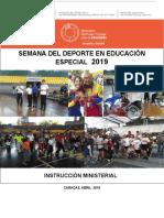 Instruccion Ministerial Final Semana Del Deporte y La Recreacion en Especial 2132019erick(1)