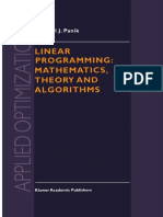 Linear Programming Mathematics Theory and Algorithms