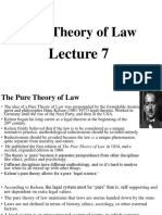 Lecture 7 - Pure Theory of Law