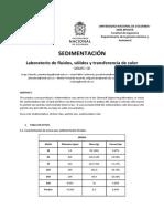 Informe 7 Sedimentacion