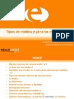 MMC Tipos de medios y generos mediaticos