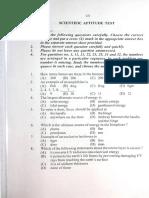 13 Test Booklet of Scientific Aptitude