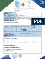 Dibujo Técnico - Guia de Actividades y Rubrica de Evaluacion - Ciclo de La Tarea 1 - Dibujo Normalizado