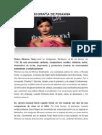 Biografía de Rihanna