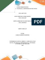 Trabajo Colaborativo Analizar La Administracion de Costos