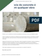 A resistência do concreto é decisiva em qualquer obra - Jofege