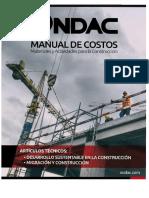 Manual de Costos – Materiales y Actividades para la Construcción ONDAC-2017