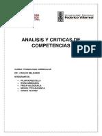 Analisis y Criticas de Competencias