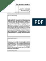 Ejemplo de project charter