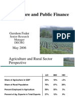 May 4 Agriculture and Public Finance