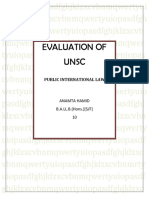 Evaluation of Unsc