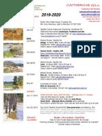 2019-2020 Workshop Schedule