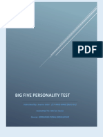 five personality test