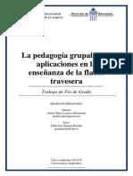La Pedagogia Grupal y Susaplicaciones en Laensenanza de La Flautatravesera