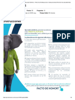 Quiz - Escenario - Formulación y Evaluación de Proyectos HV