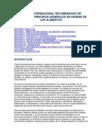 manual internacional de higuiene de alimentos