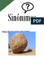Sinónimos-Antonimos