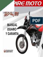Manual Usuario y Garantia Moto TX