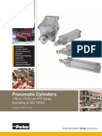 Parker Pneumatic P1F ISO Cylinders Technical Catalogue - PDE3570TCEN