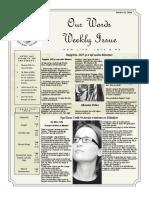 Newsletter Volume 10 Issue 37