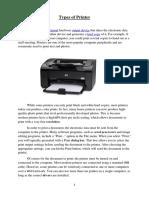 Types of Printer