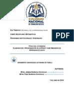 ELABORACIÓN Y PROGRAMACIÓN DE UN ROBOT COMO MEDIADOR DE APRENDIZAJE LÓGICO