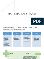 mathematical strands for kssm