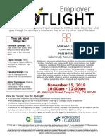 Employer Spotlight November 2019