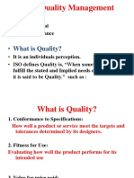 Basic Concepts of TQM, Kaizen and SQC