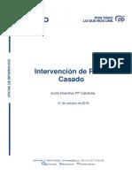 Discurso Casado Comité Dirección PP Catalunya