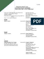 LaRace v WF Remval Fed Docket 3_14 Cv 30043 MAP