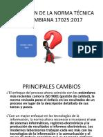 Migración de La Norma Técnica Colombiana 17025