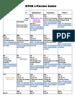 students- 2nd quarter math 6 calendar 1