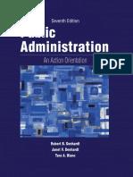 Robert B. Denhardt, Janet v. Denhardt, Tara a. Blanc - Public Administration_ an Action Orientation,-Wadsworth Publishing (2013)