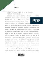 Sentencia Acoje Demanda Despido Injustificado Consumo Cocaina