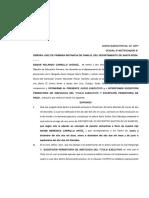 Memorial Contestación de Demanda en Sentido Negativo y Excepciones Perentorias de Ineficacia Del Titulo y Pago