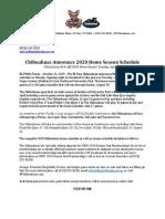 Chihuahuas Announce 2020 Home Season Schedule