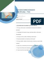 Estudo Direcionado 01 2019.2