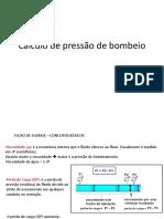 Cálculo de Pressão de Bombeio