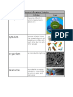 resources in ecosystems   vocabulary