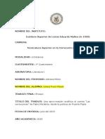 Una Aproximación Analítica Al Cuento Las Correcciones de Fabio Morábito