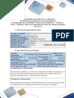 Guía de Actividades y Rúbrica de Evaluación de Pretarea - Fase 1. Elaborar Video Con Presentación Sobre Los Temas Generales Del Curso