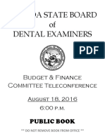 2016 Nevada Dental Board of Examiners Audit